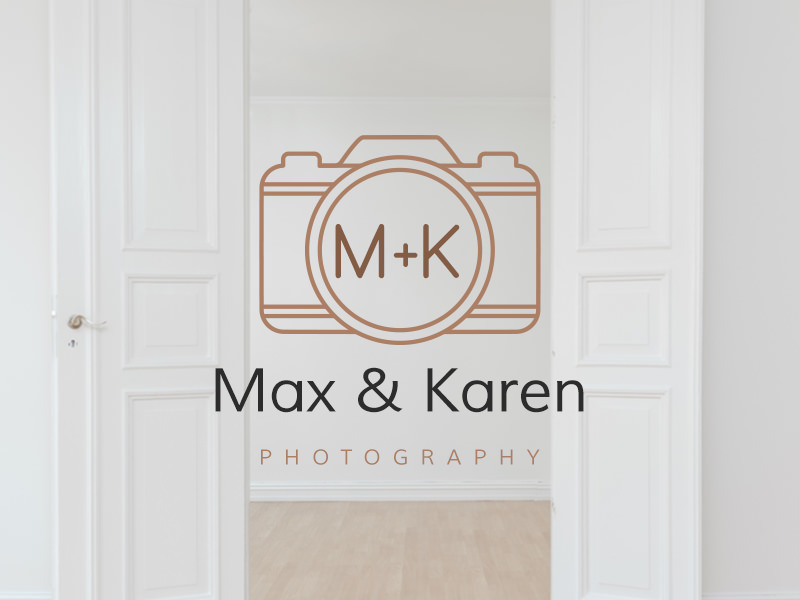 Camera logo with initials