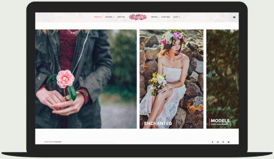 Aster - feminine photography wordpress theme