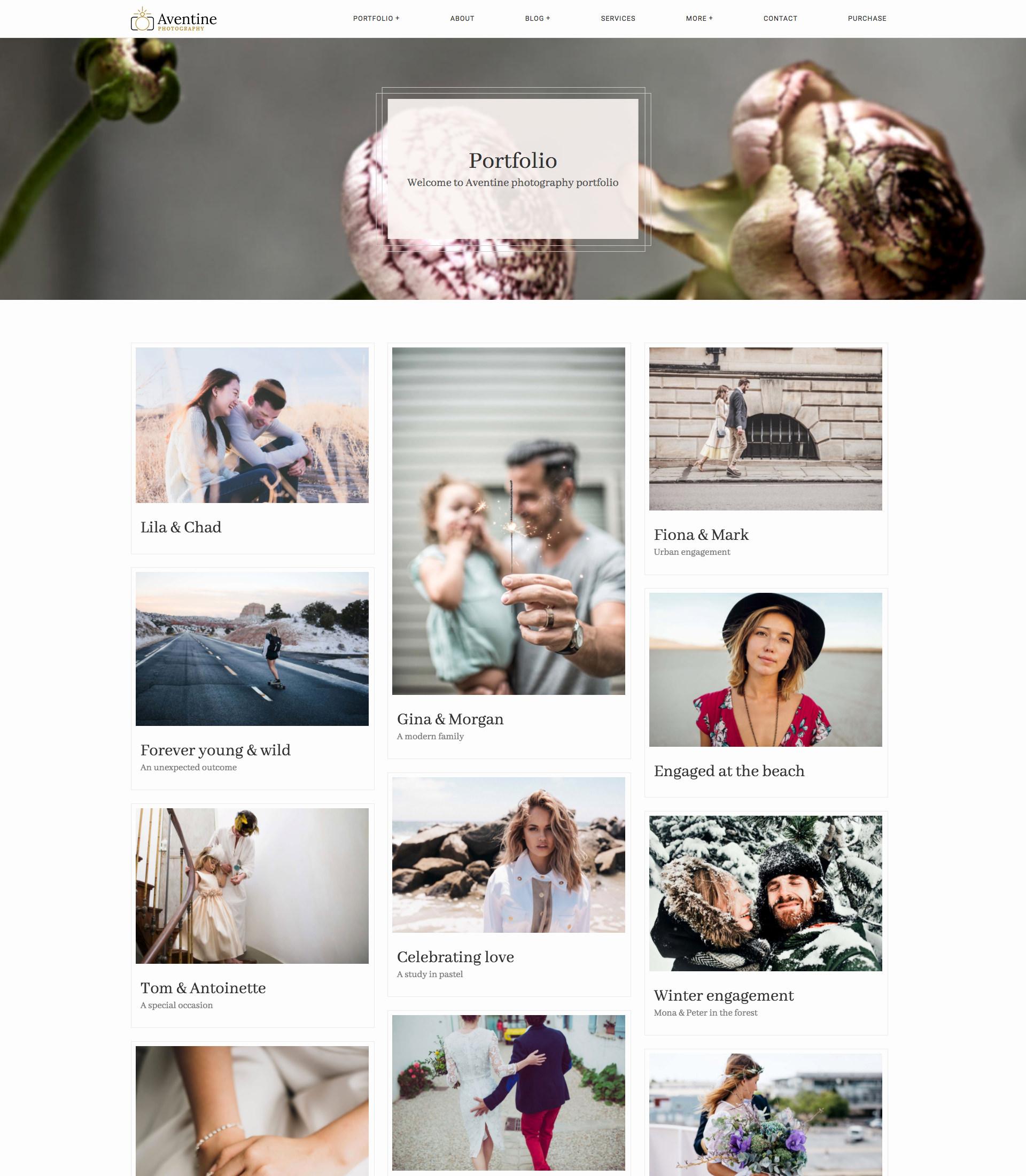 Aventine Wedding portfolio