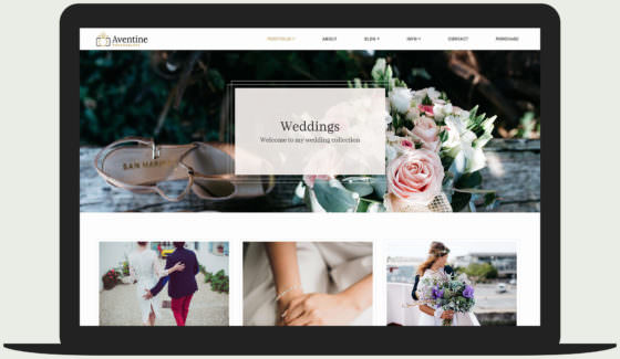 Aventine - Wedding photography portfolio theme