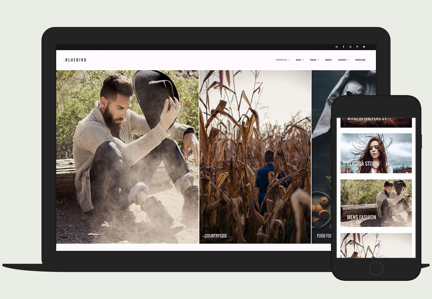 Bluebird Photography - Responsive Fullscreen Horizontal Portfolio Theme