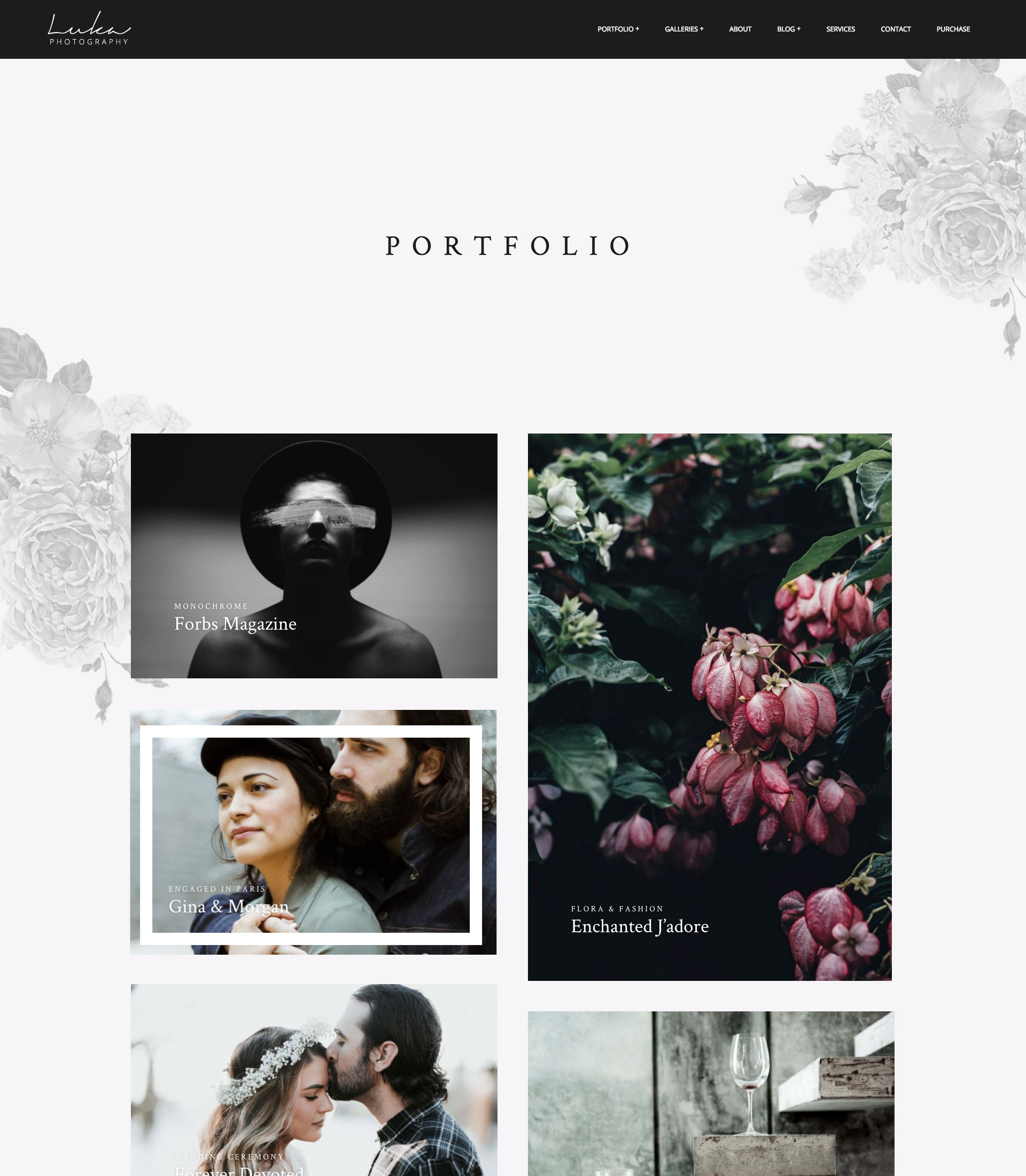 Luka - Photography portfolio theme
