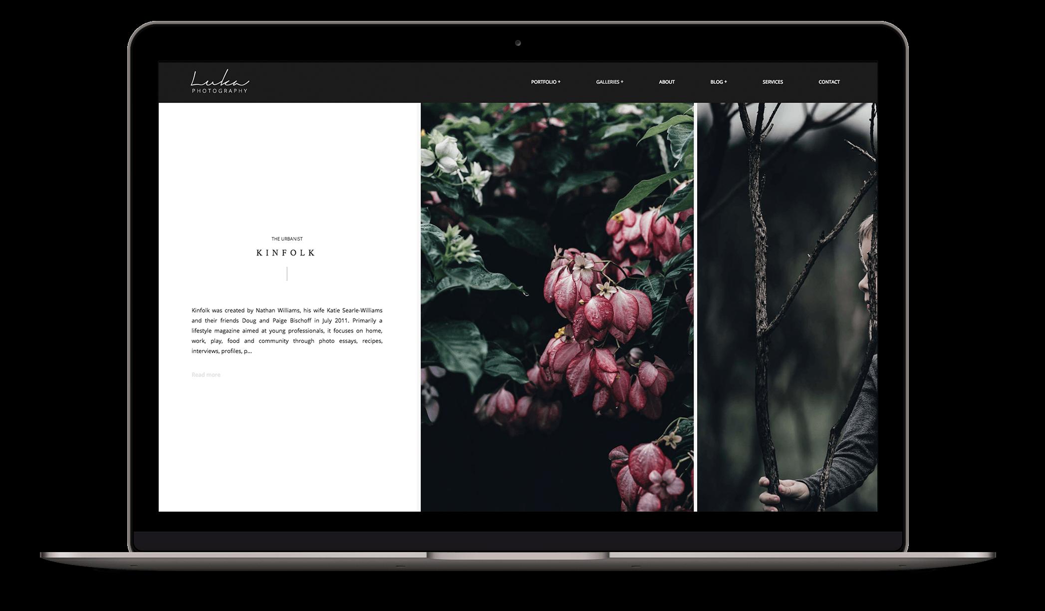 Luka Photography - Modern photography theme with elegant patterns