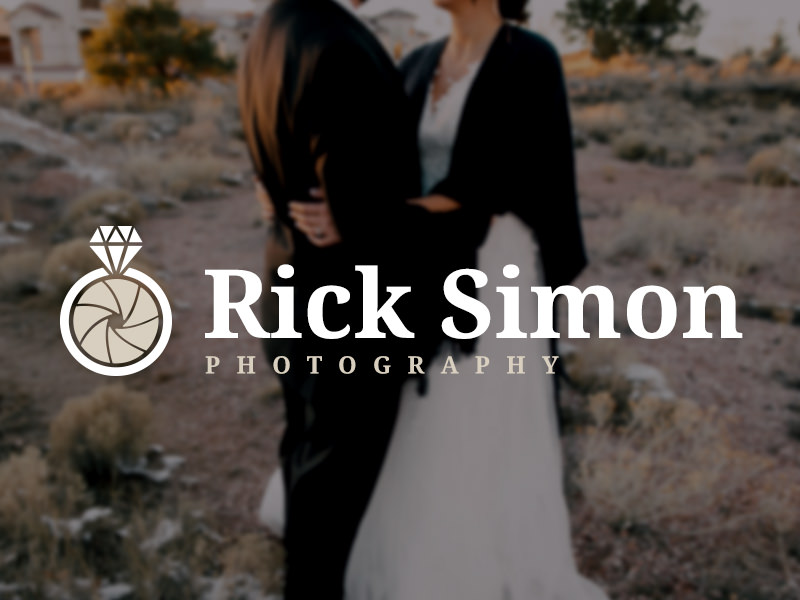 Wedding logo with a ring