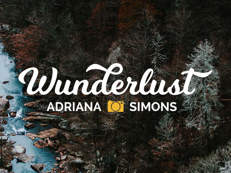 Decorative text logo for photographers
