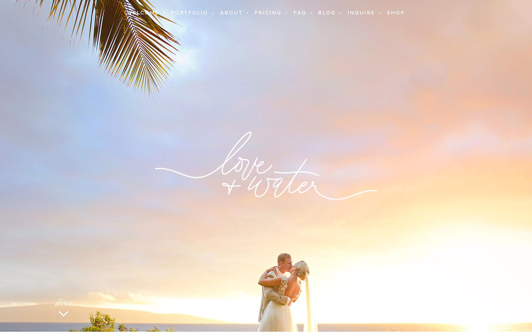 Portafolios de fotografía: Amor y Agua