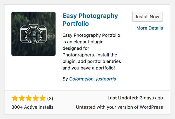 Easy Photography Portfolio - on WordPress.org