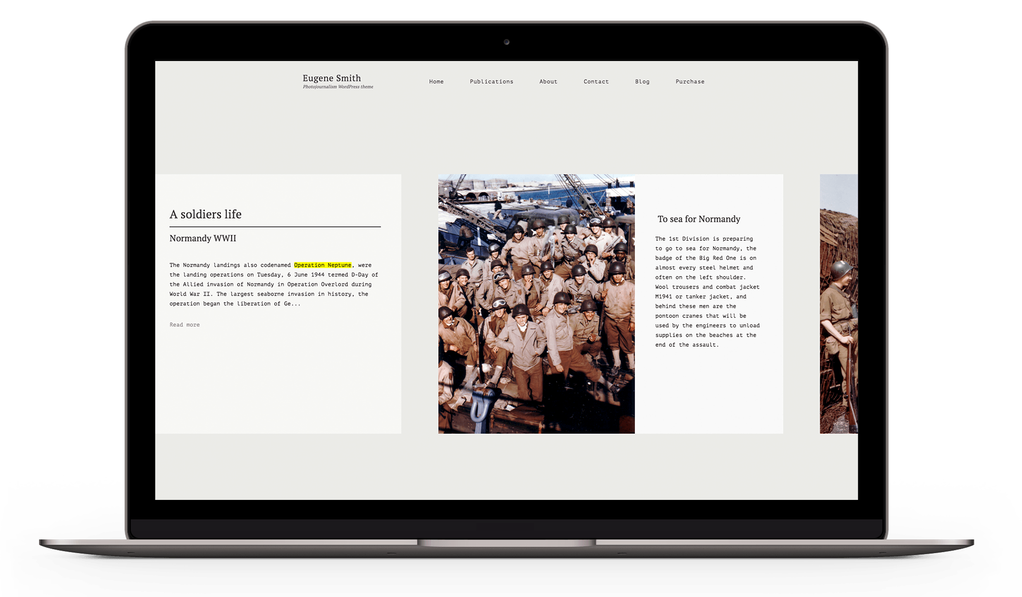 Eugene Photography - a portfolio theme for photojournalists