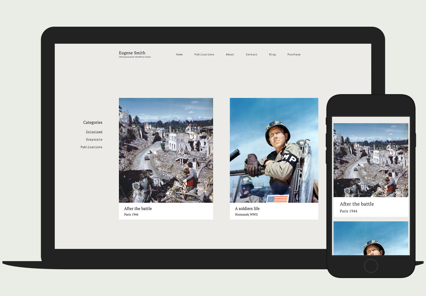 Eugene - Responsive Photojournalism WordPress theme