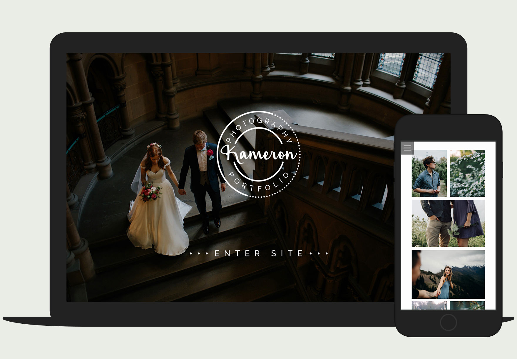 Kameron Photography WordPress theme - responsive portfolio template