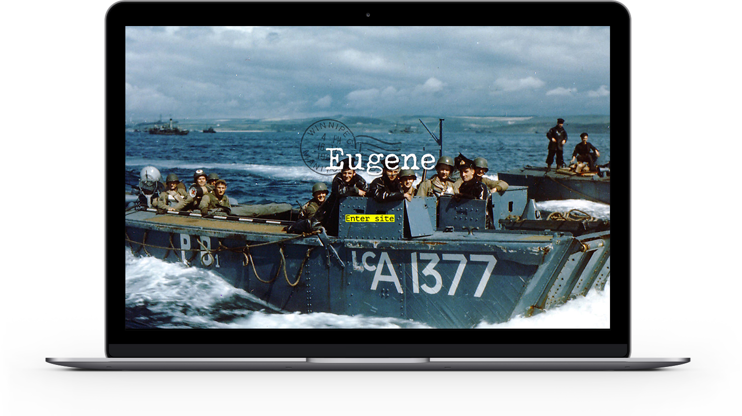 Eugene photojournalism theme -welcome page with slider