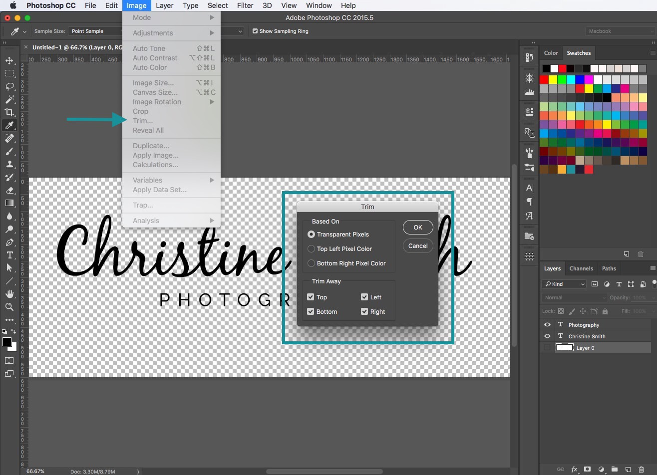 How to create a signature logo for photographers -Tutorial