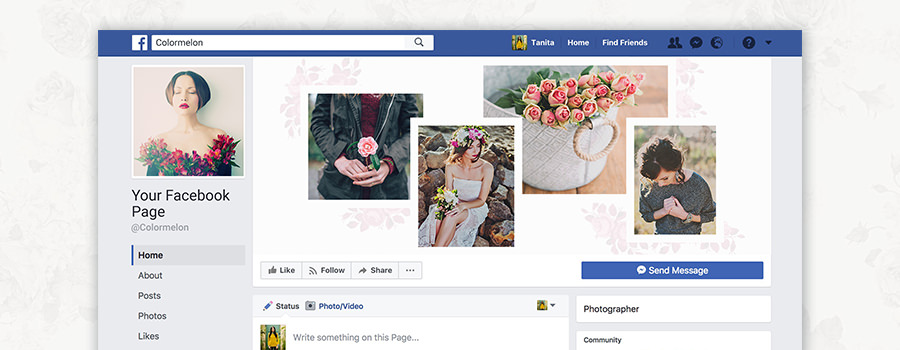 Free Facebook page covers for photographers