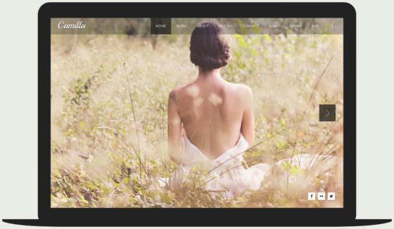 Camilla - Full-screen horizontal photography WordPress theme