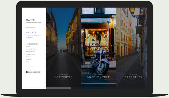 Magpie photography WordPress theme