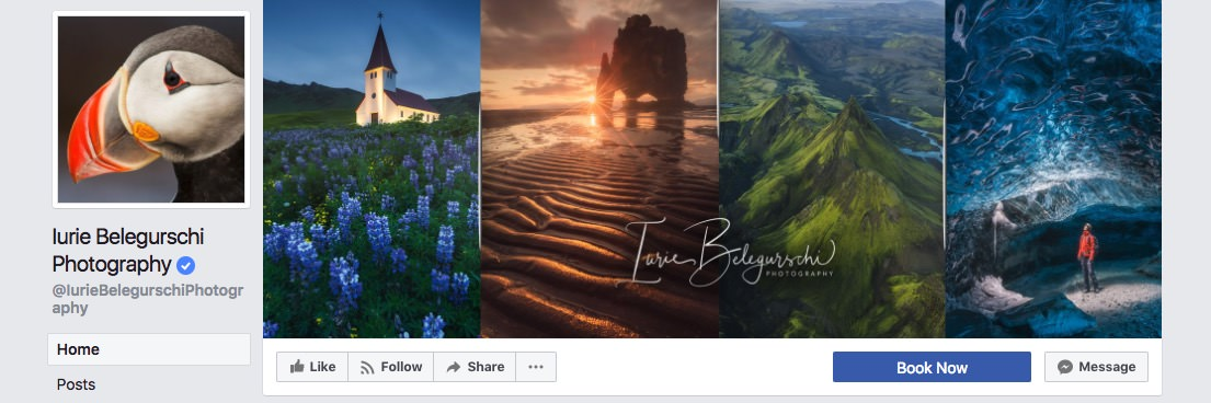 Facebook page cover inspiration - four abstract images