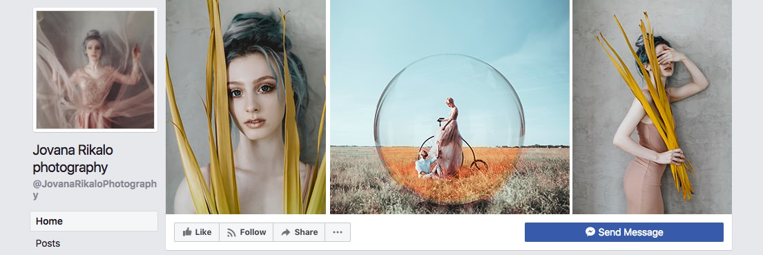 Facebook page cover inspiration - collage with three images