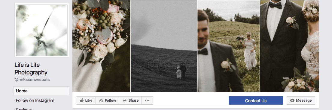 Facebook page cover inspiration - collage with four images