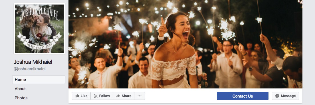 Facebook page cover inspiration - ingle image with laughing bride