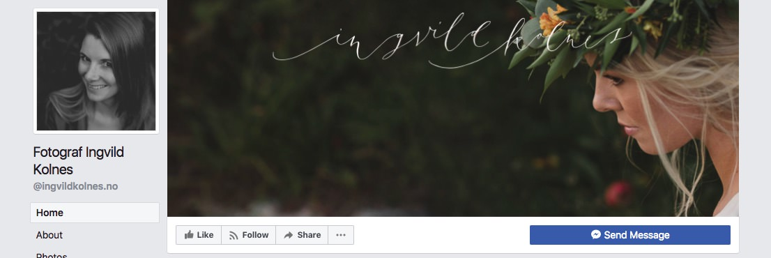 Facebook page cover inspiration - image with a delicate logo on top