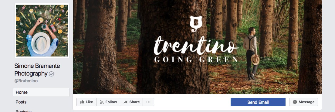 Facebook page cover inspiration - image with a logo on top