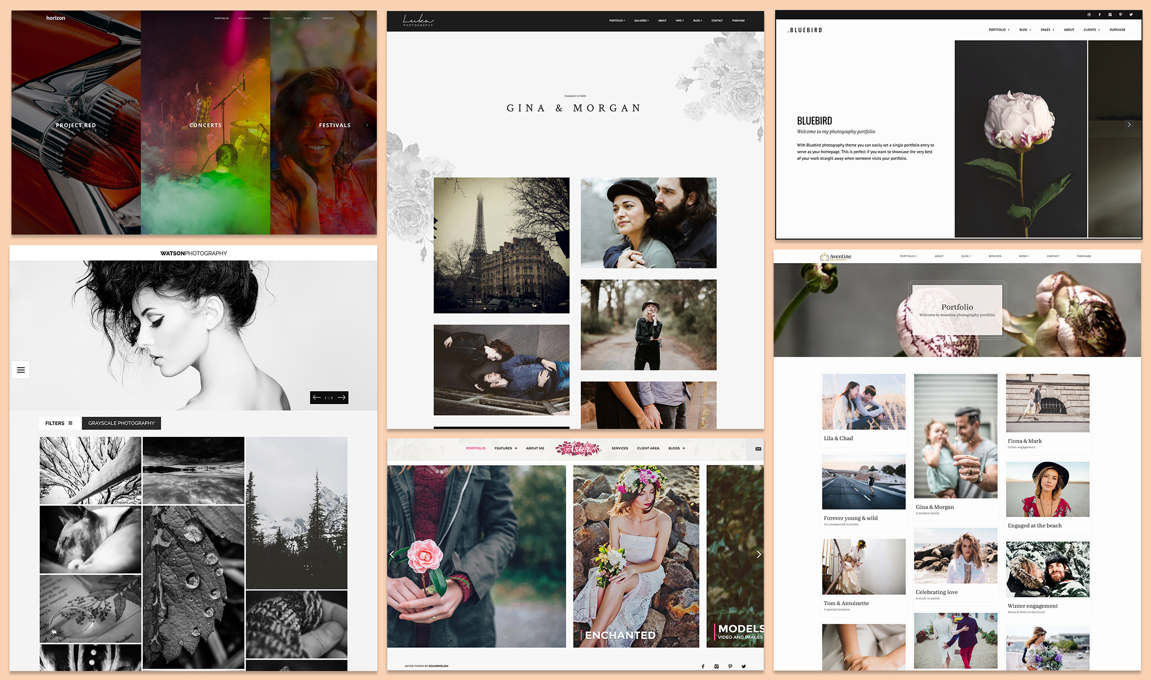 Premium WordPress photography themes for photographers made by Colormelon