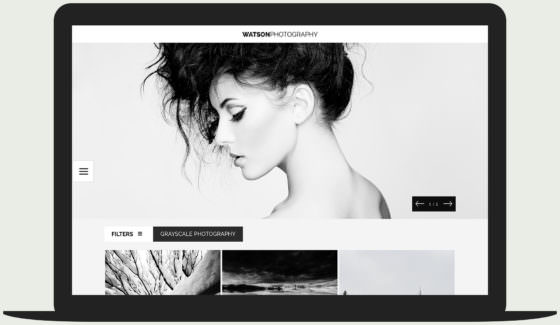 Watson -minimal, modern photography WordPress theme