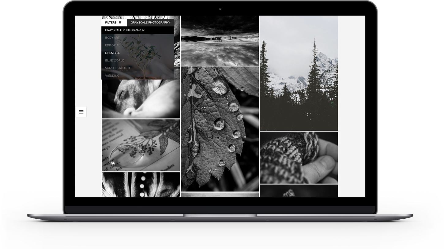 Watson photography portfolio with filterable galleries