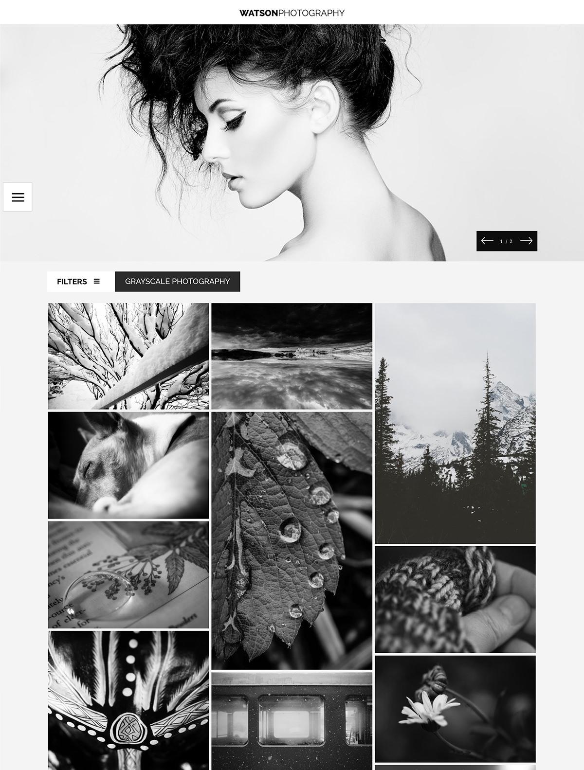 Watson photography theme with slider and portfolio.