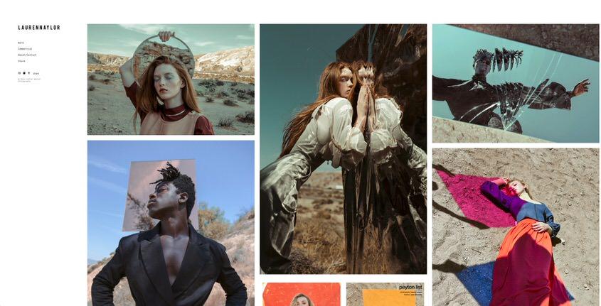 Ejemplo de sitio web de cartera de fotografía