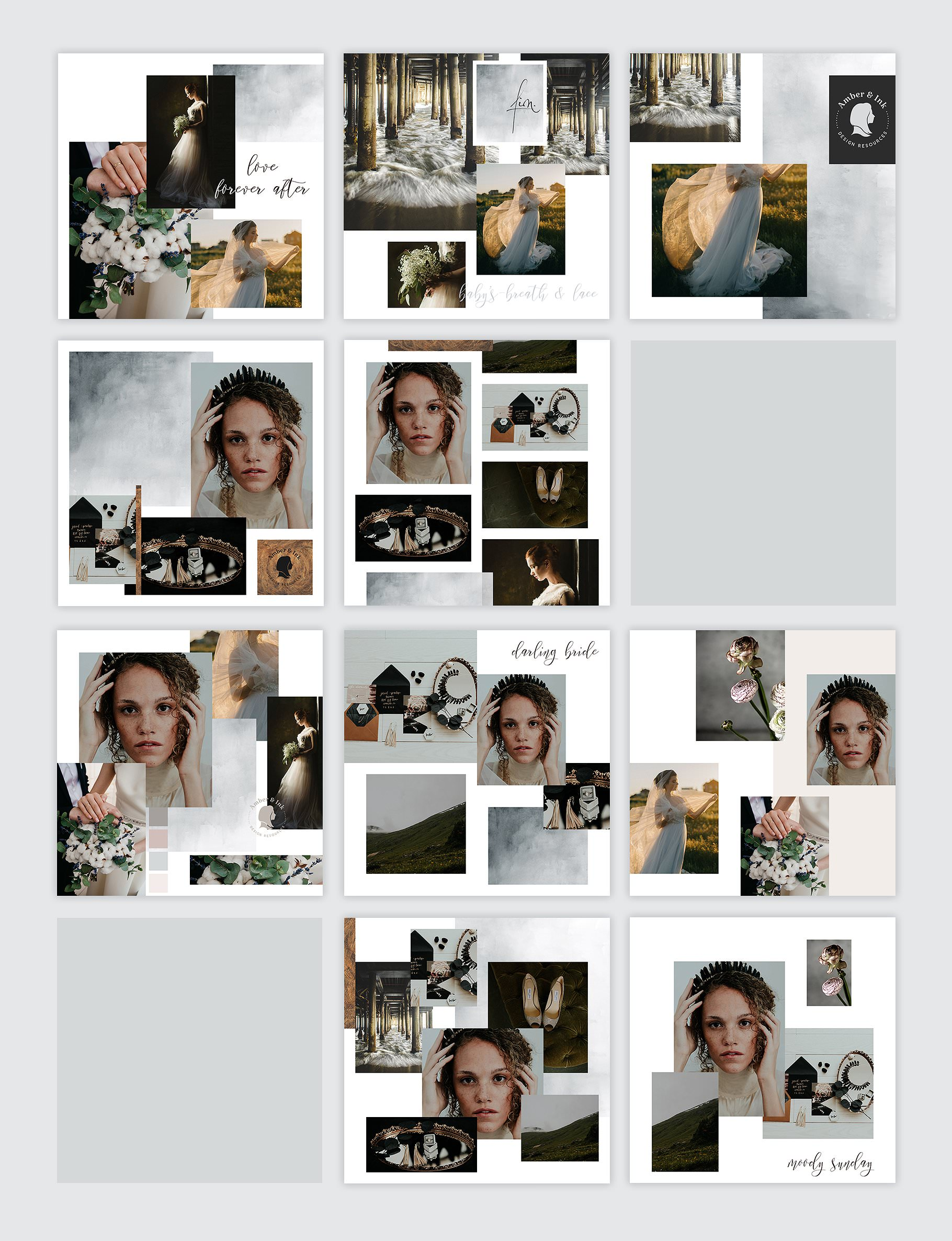 Instagram Post templates for photographers and designers.
