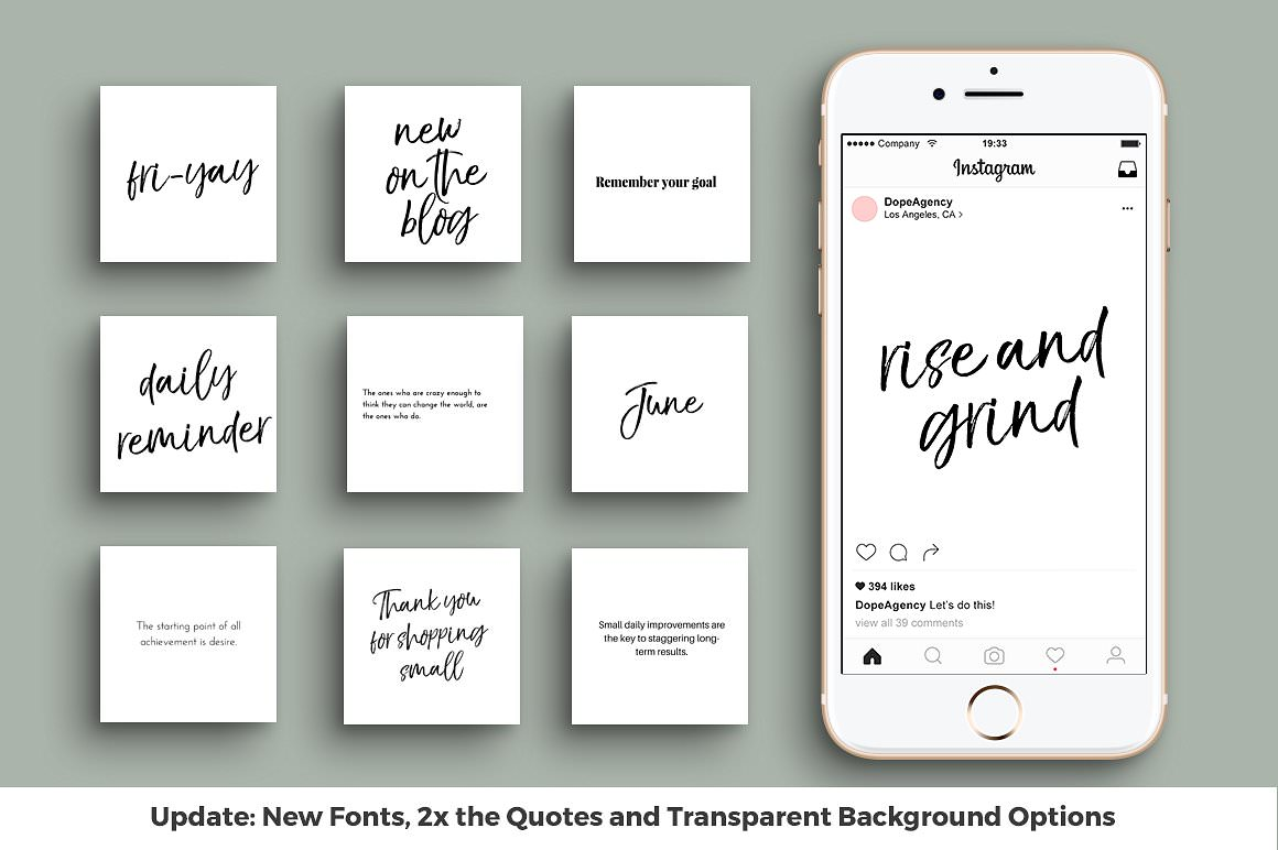 Ready-to-use quote templates for Instagram. Business themed.