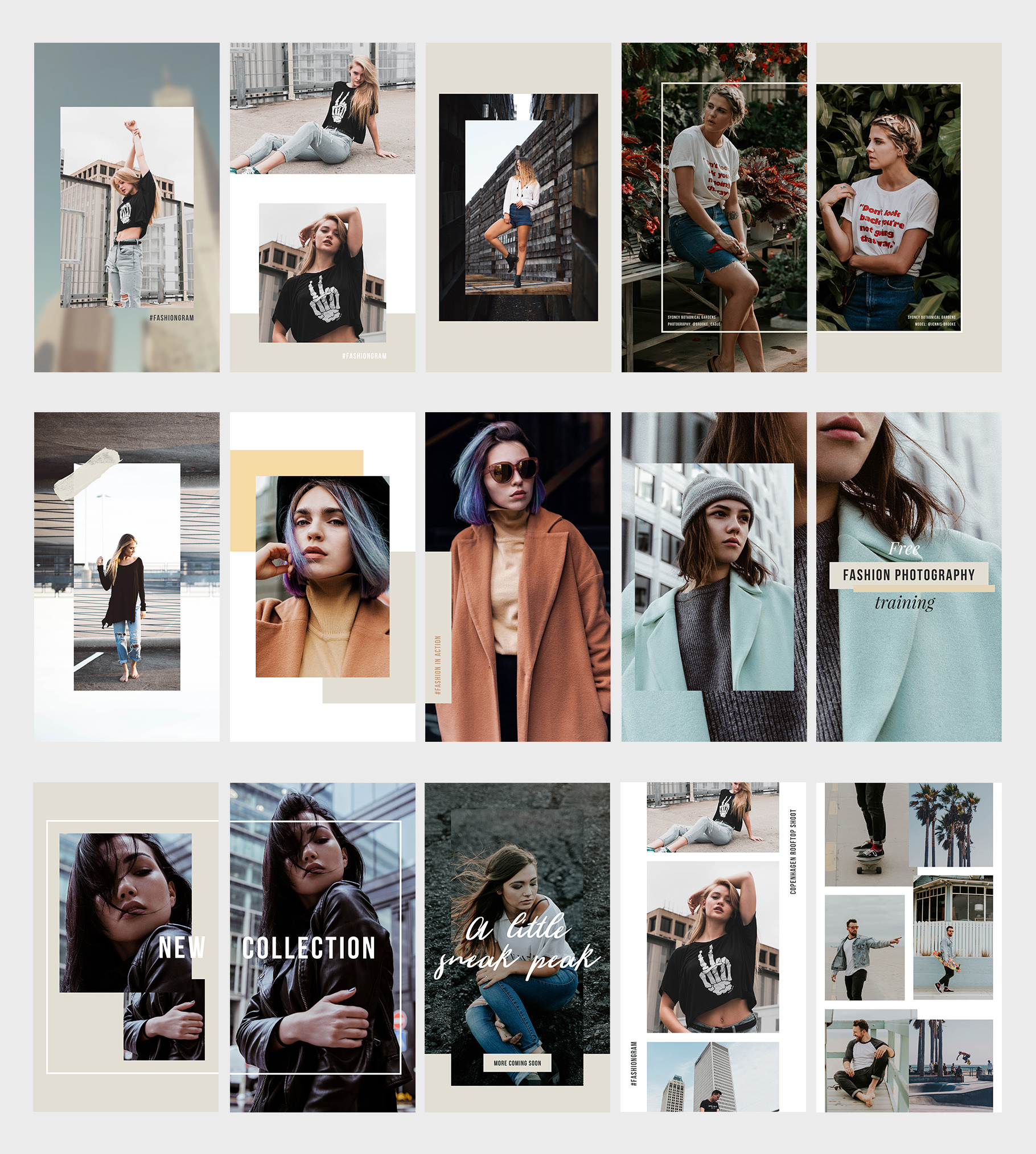 Easy to use Instagram stories templates for fashion and lifestyle bloggers.