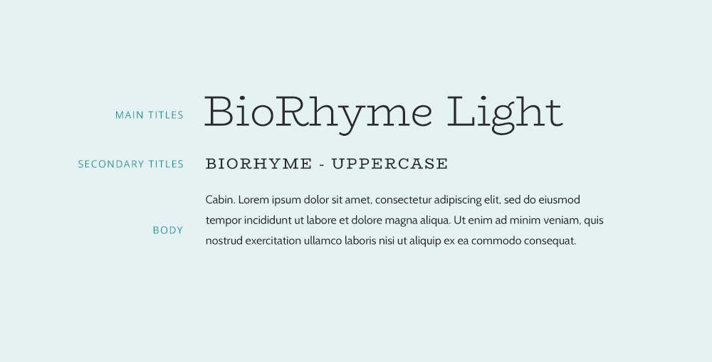 Biohyrime ans Montserrat font pairing. Google font combination example.