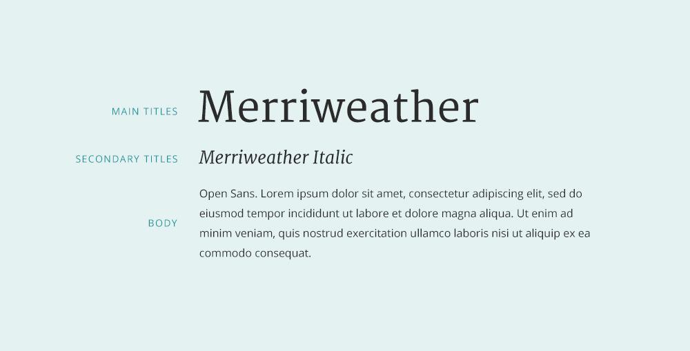 Merriweather font pairing.