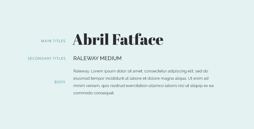 abril fatface font combination and raleway font pairing.