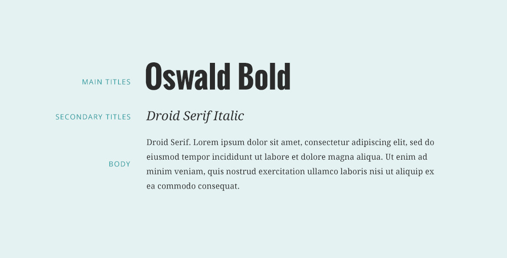 Oswald font combinations