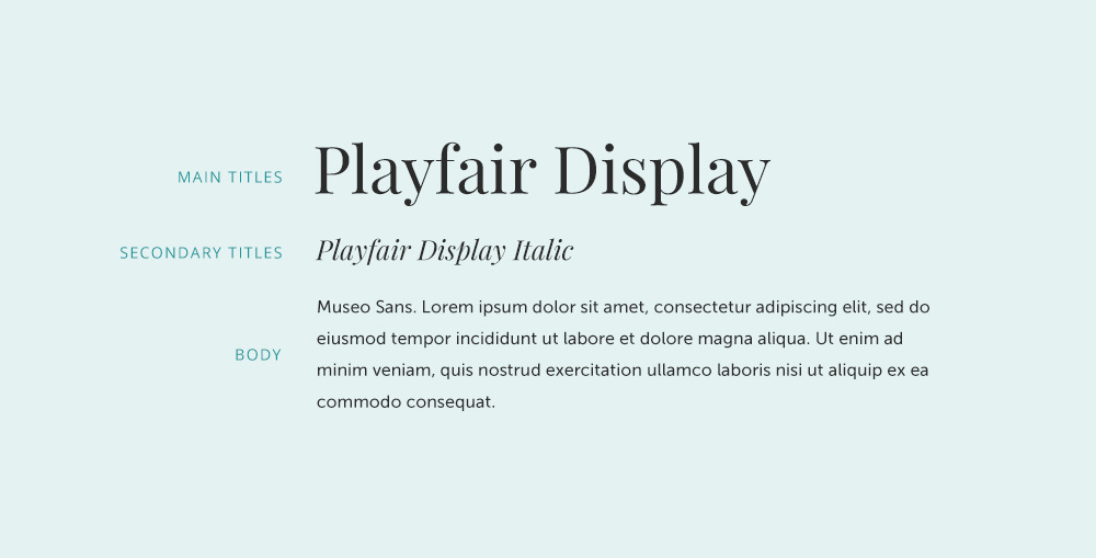 Playfair Display font pairing.