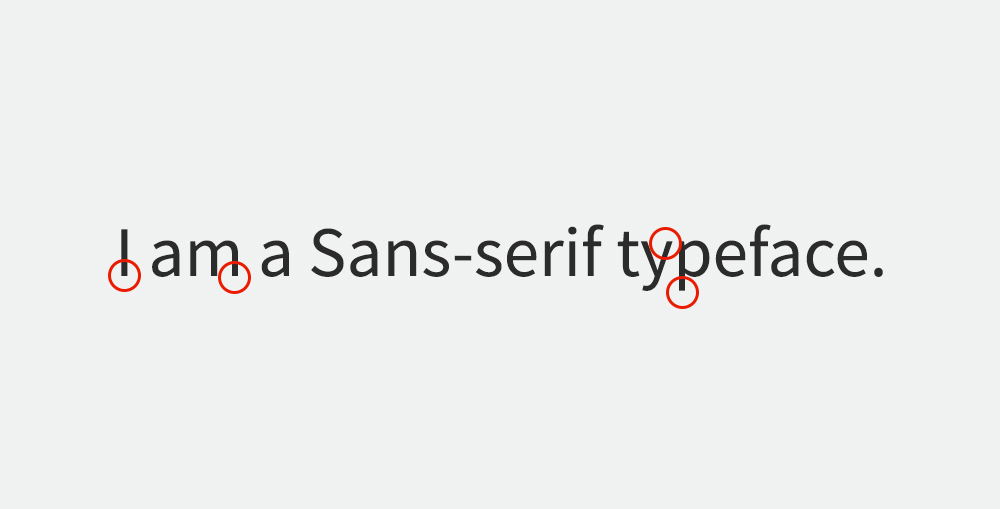 Sans serif font example - visual guide.