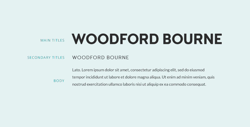 Free font similar to Brandon Grotesque - Woodford Bourne font and a pairing example.