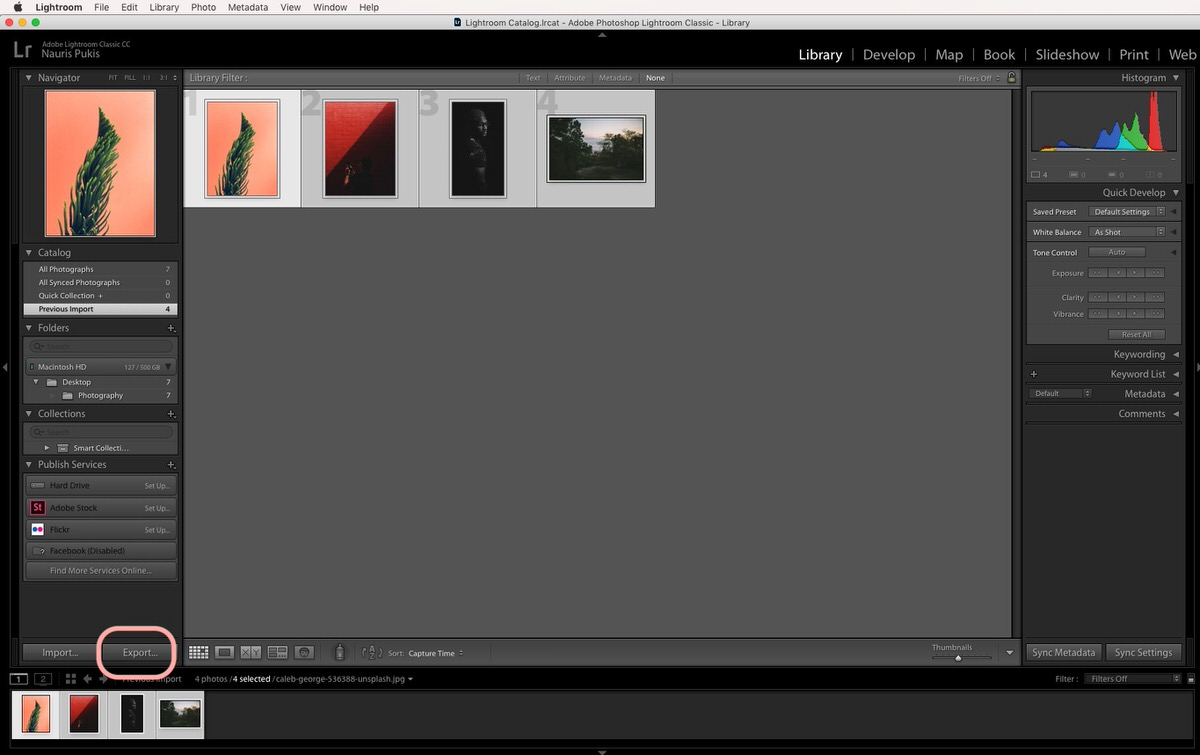 How to add watermark to multiple photos in lightroom