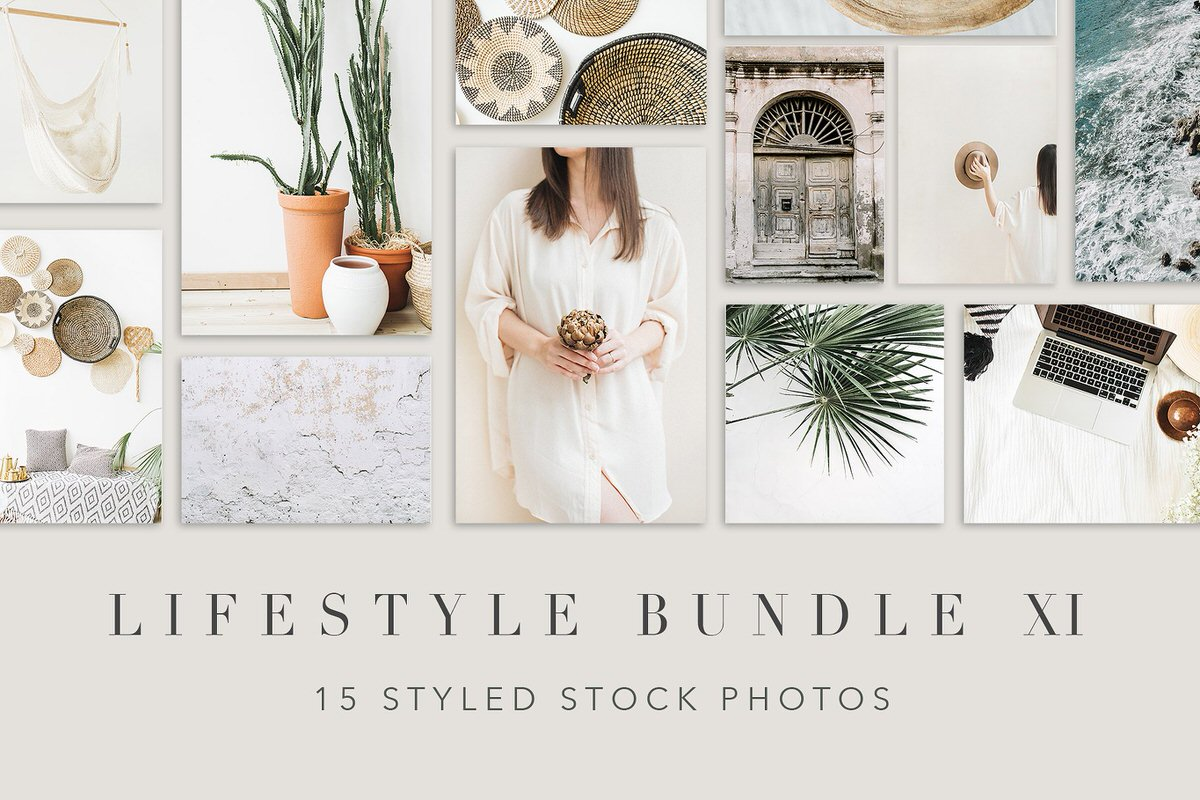 Styled stock photography bundle with 15 images.