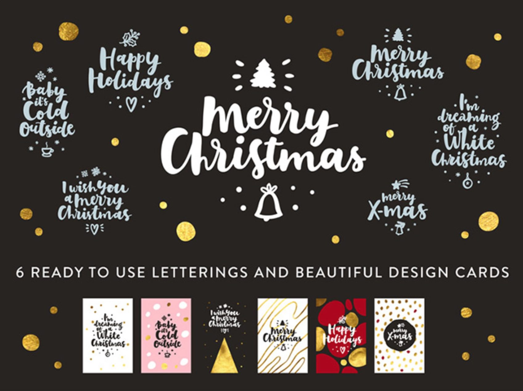 Christmas greeting vectors available for free.