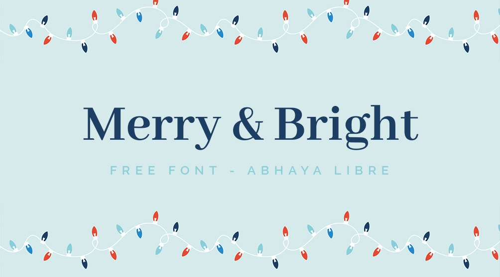 Free serif font for greeting cards and posters.