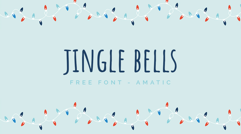 Free hand lettered font for festive occasions.