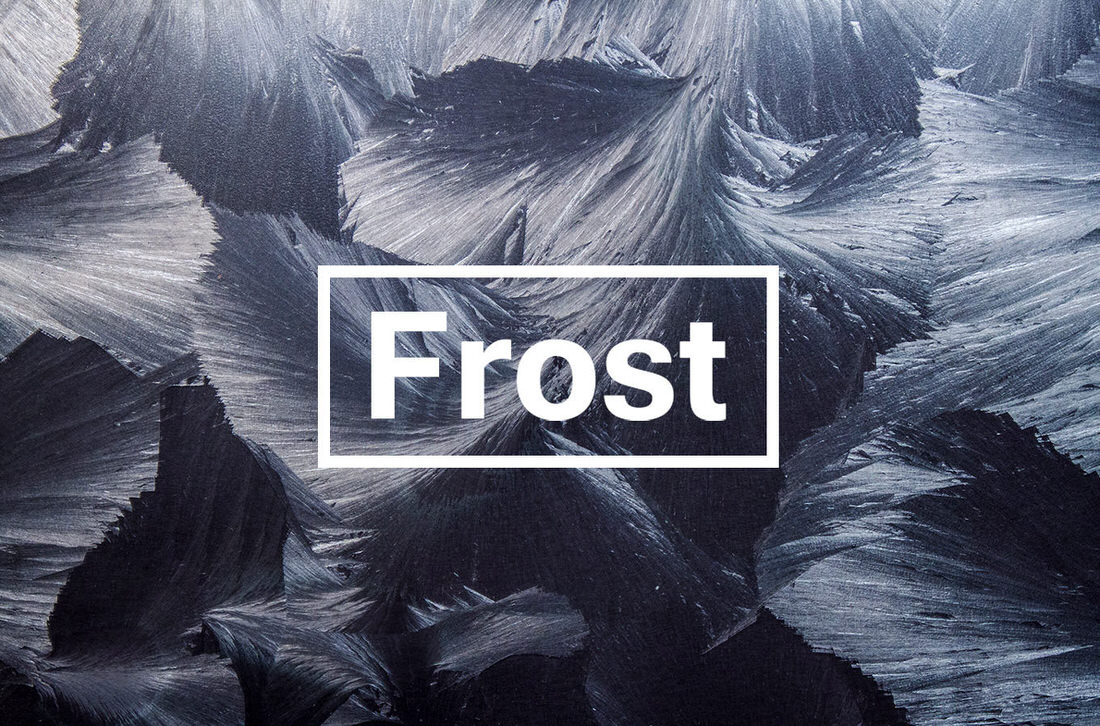 Real frost textures in various colors.