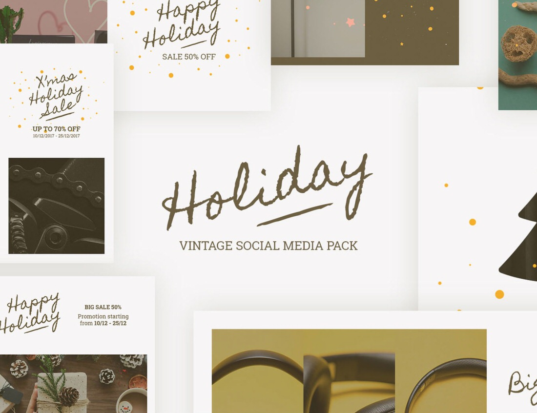 Free holiday templates for your social media.