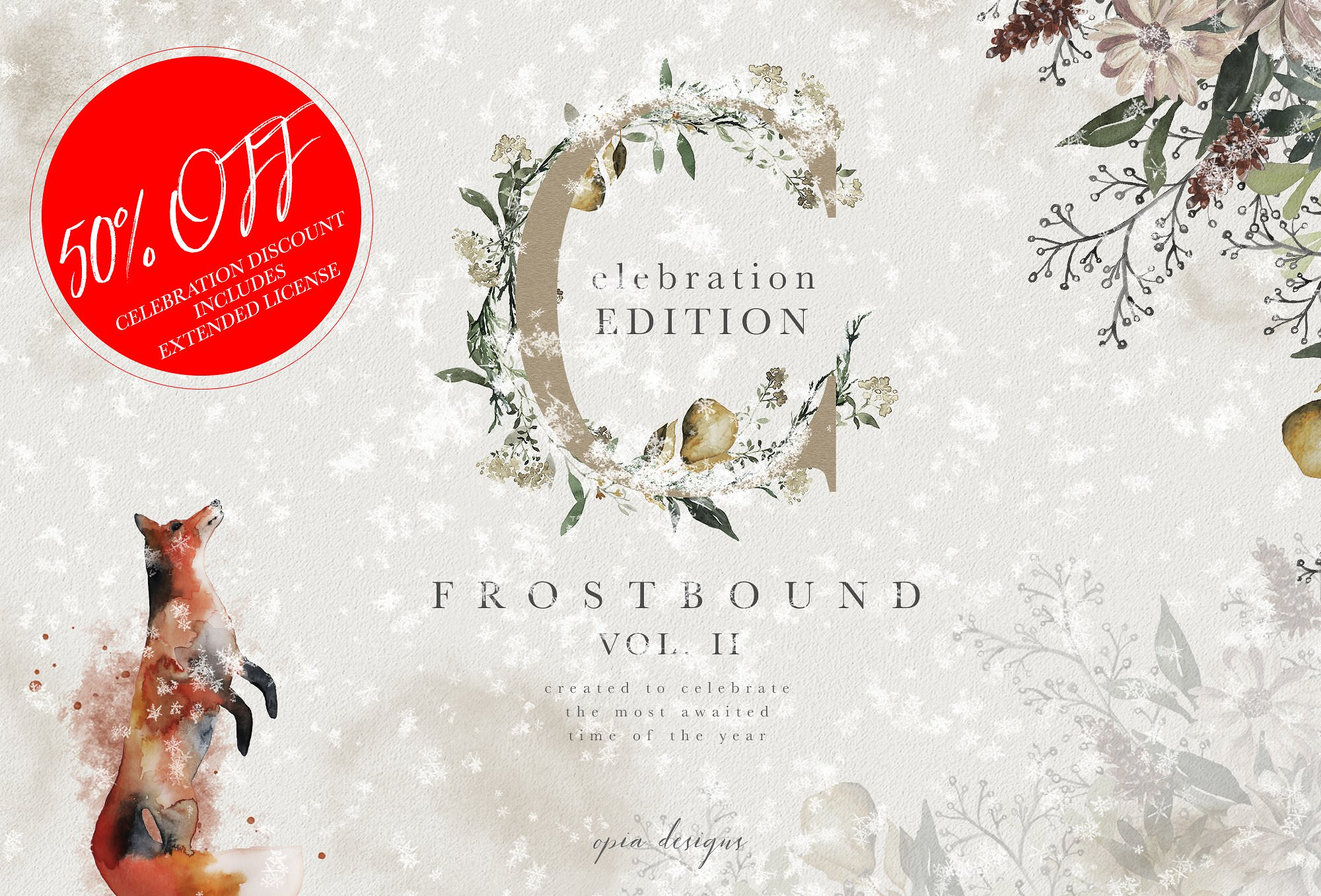 Exclusive festive graphics and font for Christmas projects.