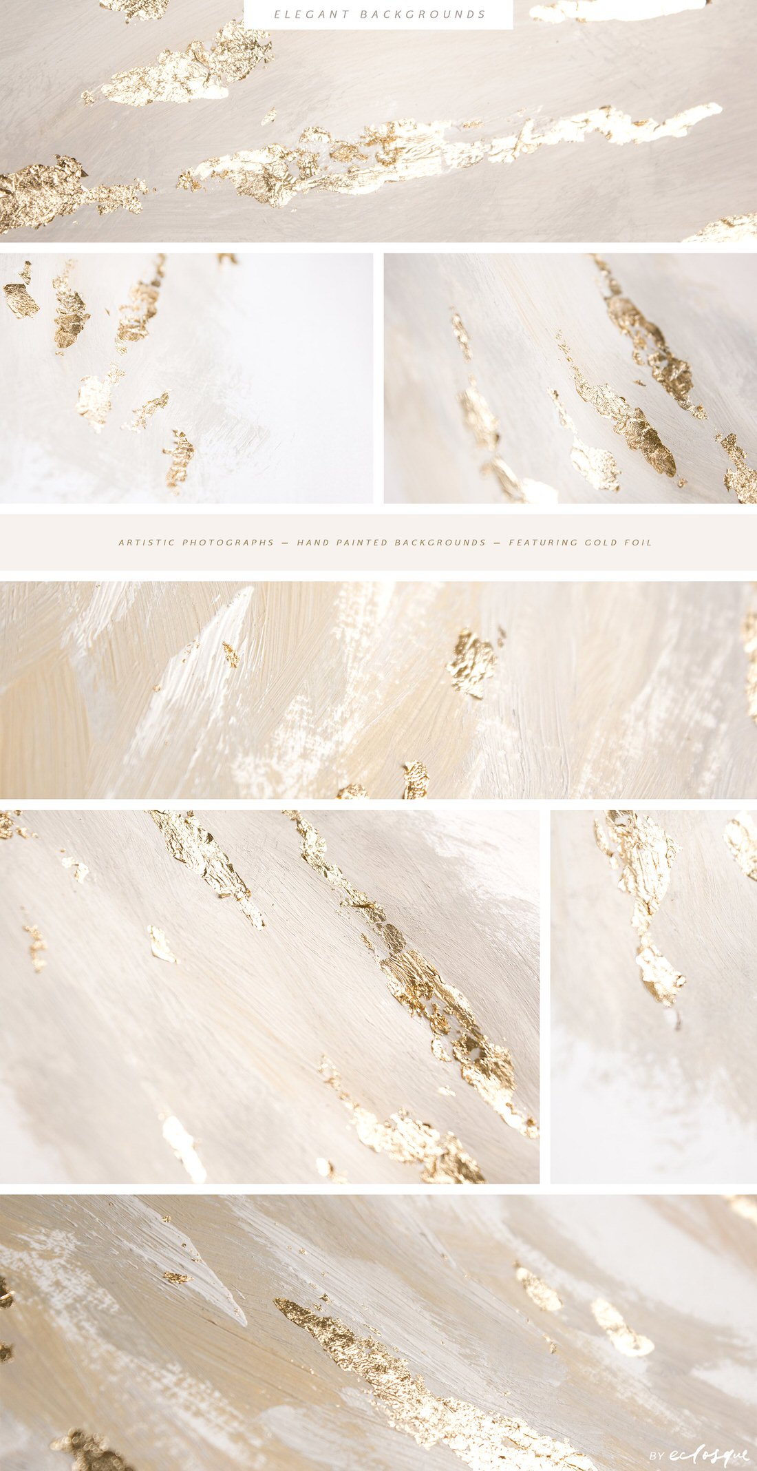 Elegant background images with gold foil and hand-painted brush strokes.