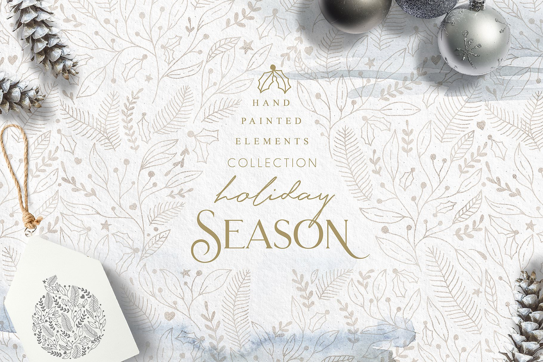 Holiday season collection with hand painted elements.